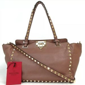 AUTHENTIC VALENTINO GARAVAN HWB00037 ROCK STUD BAG